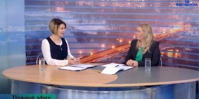 Н.В. Ломакина приняла участие в прямом эфире «Бал-ТВ»