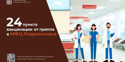 В МФЦ Подмосковья можно сделать прививку от гриппа